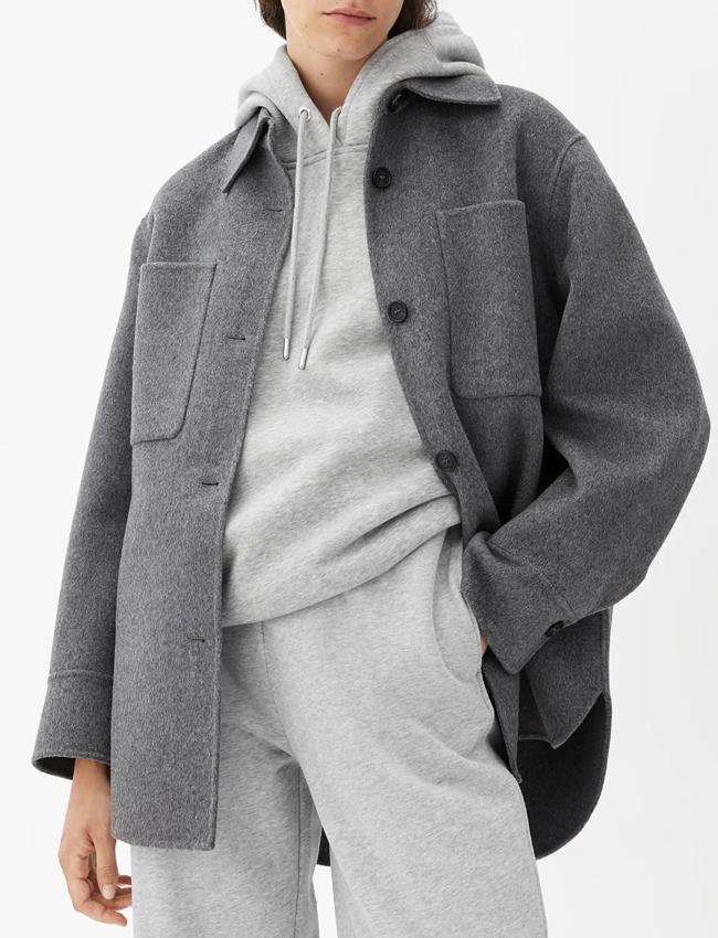 grey wool overshirt