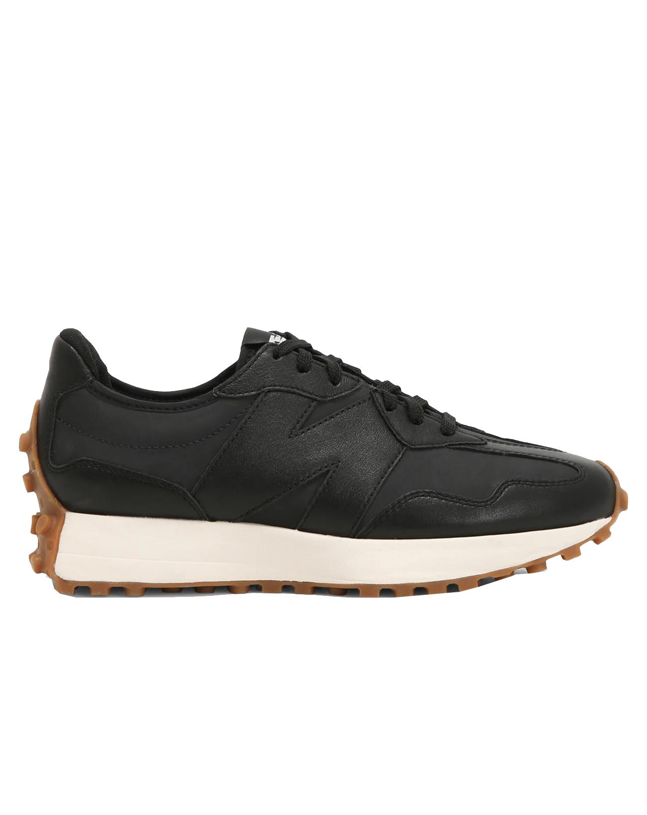 new balance 327 black leather