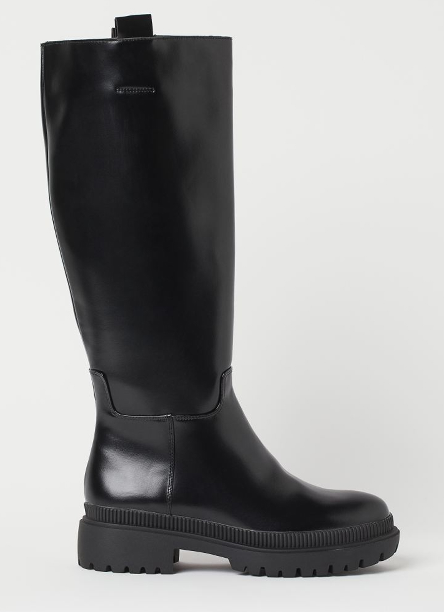 h&m chunky tall boots