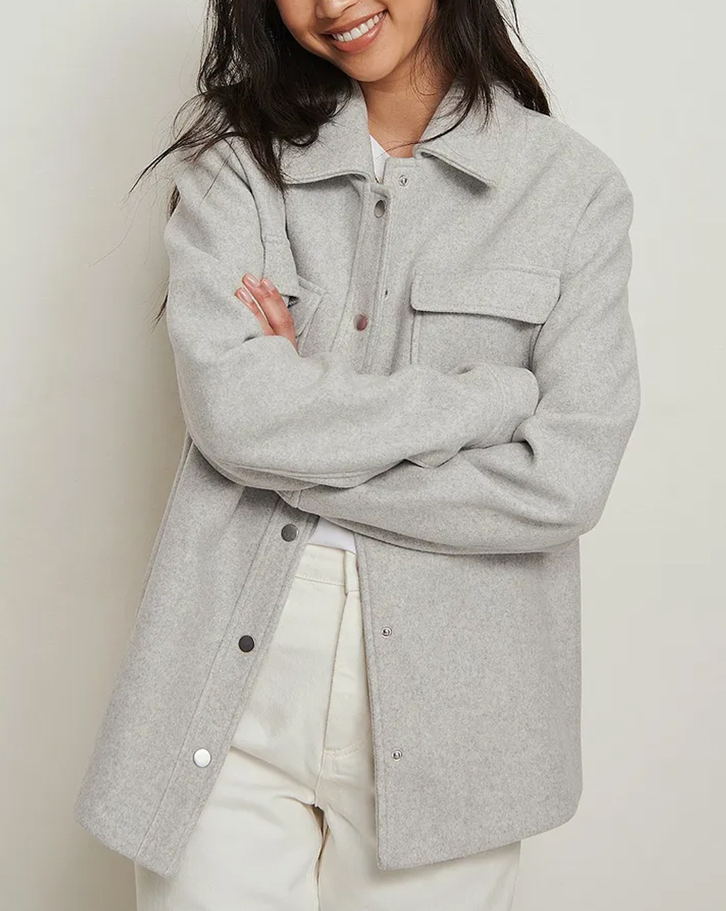 grey overshirt women 2021