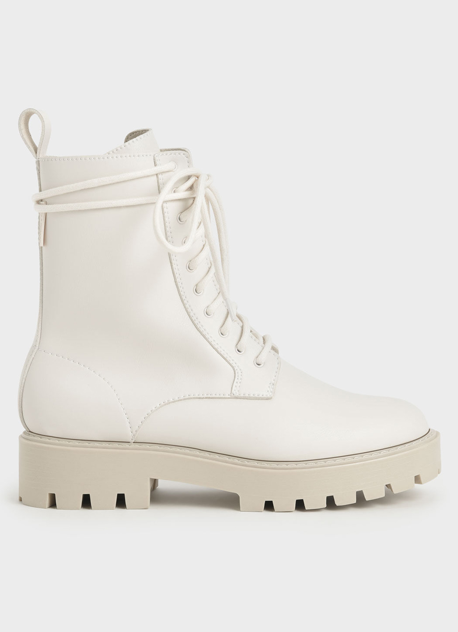 charles & keith boots beige