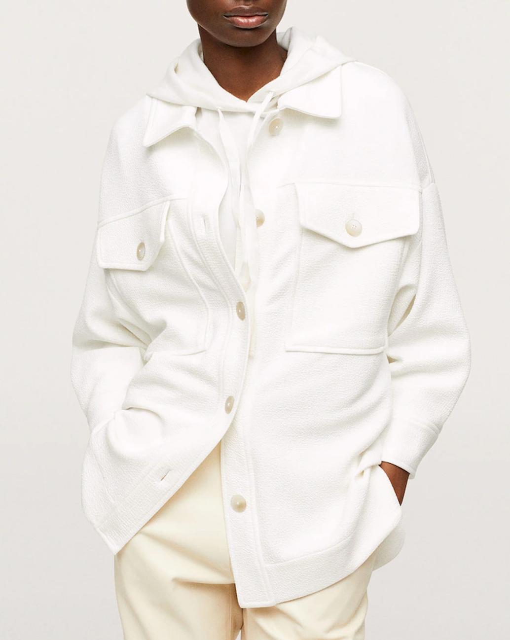 white overshirt mango