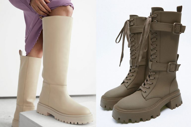 LONG CHUNKY BOOTS FOR AUTUMN 2021
