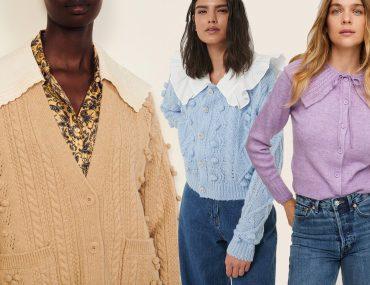 top collar cardigans for women 2021