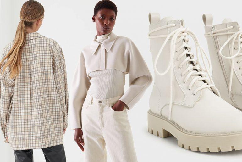 beige chunky boots autumn 2021